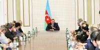 Azerbaijan President Ilham Aliyev receives participants of the 30th OANA Executi