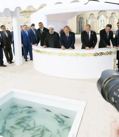 Heads of state attended ceremony to release young sturgeons into Caspian State