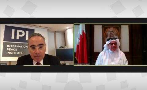 Foreign Minister holds meeting with IPI MENA Director