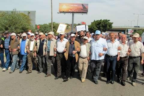 Lebanon Labor Unions Protest in Beirut Airport Area 