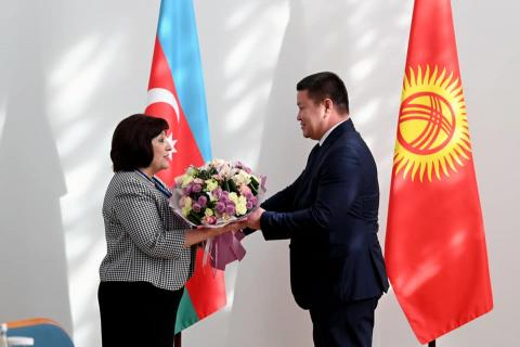 Kyrgyz parliament speaker meets with chair of Azerbaijani National Assembly