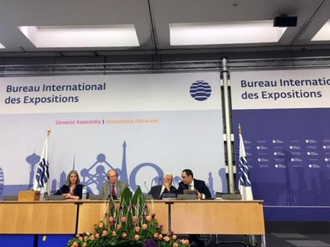 Azerbaijani delegation led by Prime Minister Novruz Mammadov attends 163rd session of Bureau International des Expositions General Assembly in Paris