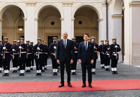 President Ilham Aliyev met with President of Council of Ministers of Italy Giuseppe Conte