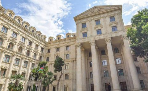 Azerbaijan's Foreign Ministry: The Armenian leadership is undermining the negotiated settlement of the conflict with its policy of annexation