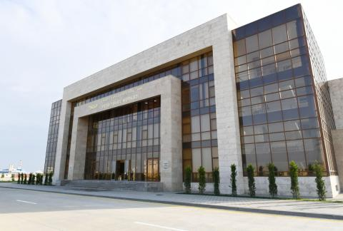 Vocational Education Center opened at Sumgayit Chemical Industry Park President Ilham Aliyev attended the inauguration