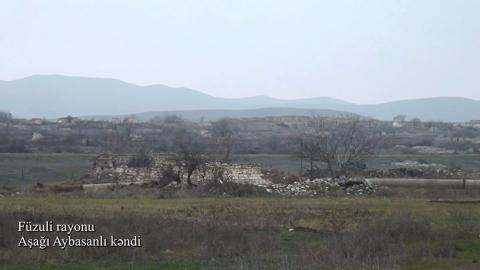 Azerbaijan's Defense Ministry releases video footages of Ashaghi Aybasanli village, Fuzuli district