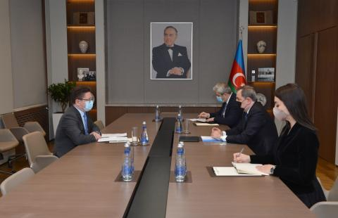 Azerbaijani FM meets with head of Baku Office of Council of Europe