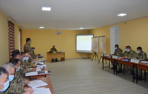 Azerbaijani defense minister watches Command-Staff Exercises in Lachin district