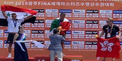 Syrian swimmer Ma'ala gains silver medal at Masters 3 km-distance in South Korea