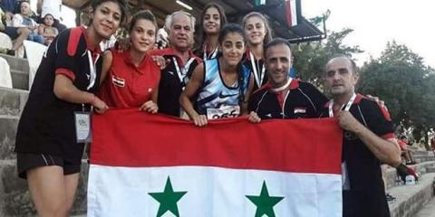 Syria's junior track and field team harvests 6 medals at western Asia championship