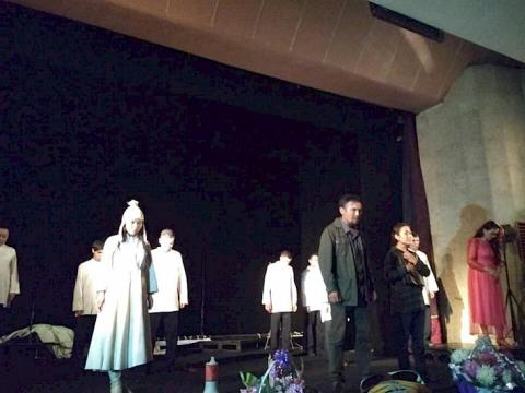 """Premier of play """"When the Mountains Fall"""" takes place in Chuy oblast theatre"""