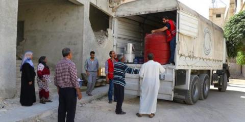 SARC delivers aid to several families in Eastern Ghouta
