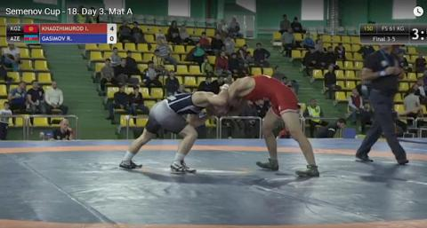 Athlete from Kyrgyzstan wins bronze medal at international freestyle wrestling tournament