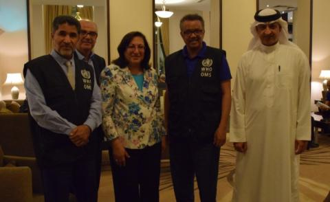 Bahrain's Health Minister meets WHO top official