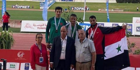 Two bronze medals for Syria in Arab track and field championship of Tunisia