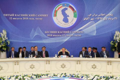 In a joint statement; Caspian Sea legal status for peace, empathy, coop.