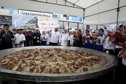 Record beshbarmak of Kyrgyzstan is on official page of Guinness Book of Records