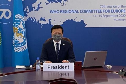 Kazakh health minister elected as Chair of WHO Regional Office for Europe's 70th session