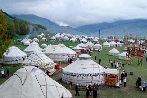 More than 1000 yurts to be installed on Kyrchyn gorge within framework of Nomad Games