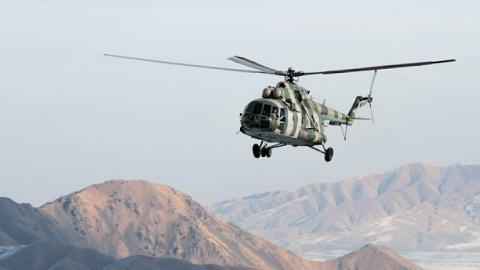 Helicopter of Air Defense Force of Kyrgyzstan crashes in Issyk-Kul