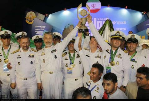 Iran armed forces win diving competitions