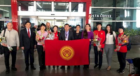 National women's wrestling team of Kyrgyzstan arrives in India for Asian Championship