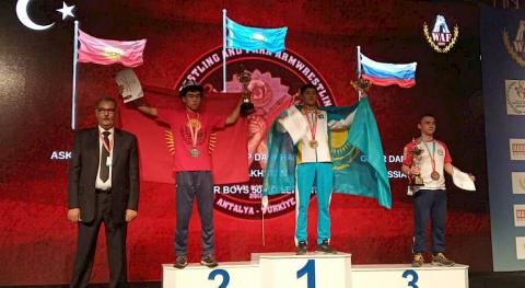 Kyrgyzstanis win gold and silver medals at World Armwrestling Championship