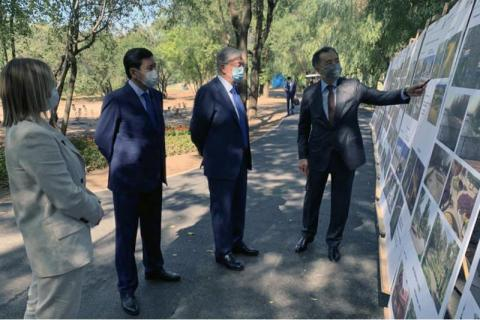 President gets familiarized with Almaty city's environment upgrading projects