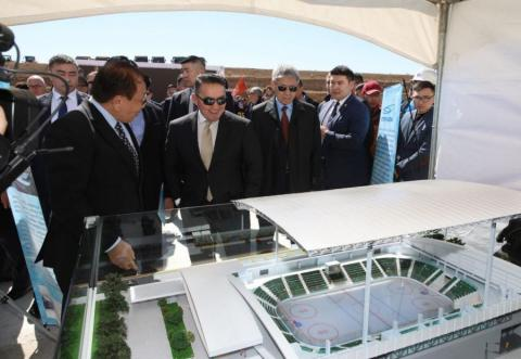 Foundation-laying ceremony of Winter Sports Palace held