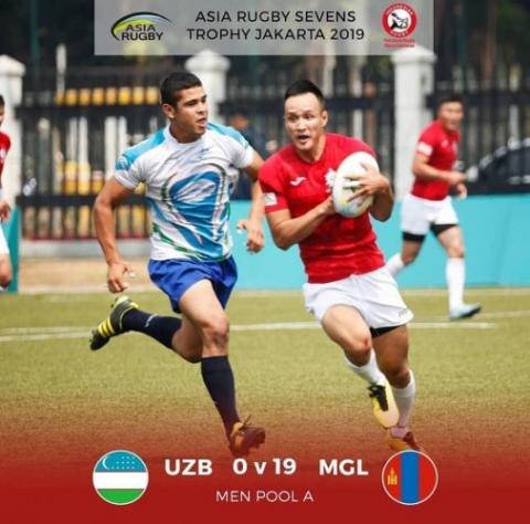 Mongolian rugby players finish 4th place in Asia Rugby Men's Sevens