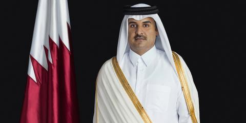 HH the Amir Exchanges Eid Al Fitr Greetings with Kuwait Amir, Crown Prince