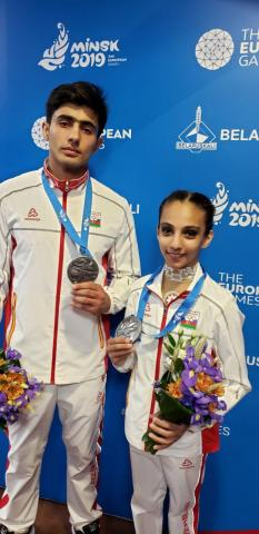 Azerbaijani acrobats secure nation`s first medal at Minsk 2019
