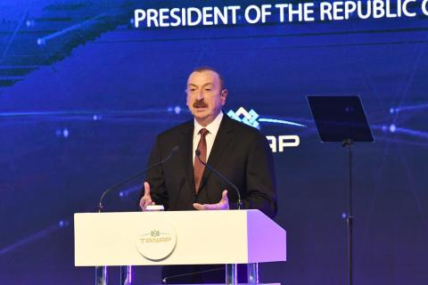President Ilham Aliyev: The commissioning of TANAP will usher ample opportunities for neighboring and friendly countries