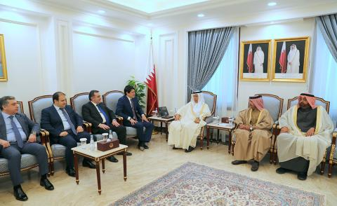 Speaker of Shura Council Meets Chairman of State Committee on Affairs with Diaspora of Azerbaijan