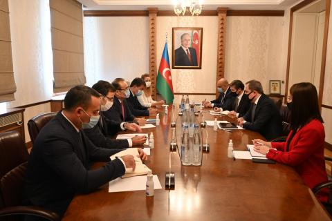 Azerbaijan's FM discusses co-op with Turkic Council secretary general