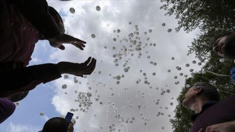 Balloons take to skies worldwide for Idlib, Syria