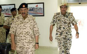 Commander-in-chief inspects BDF units