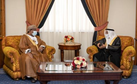 Deputy Prime Minister receives Oman Chamber of Commerce and Industry President