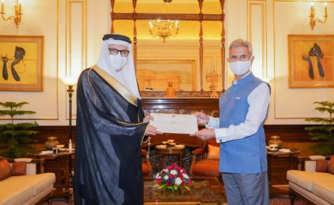 HRH the Crown Prince and Prime Minister sends letter to the Prime Minister of the Republic of India