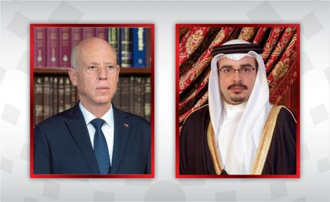HRH the Crown Prince and Prime Minister congratulates the President and the Prime Minister of the Republic of Tunisia