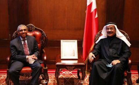 King Hamad Global Centre for Peaceful Co-existence Board of Trustees Chairman receives Egyptian ambassador