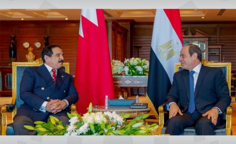 HM King, Egyptian President discuss bilateral relations