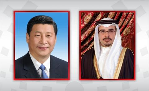 HRH the Crown Prince and Prime Minister condoles with the President and the Premier of the State Council of the People's Republic of China