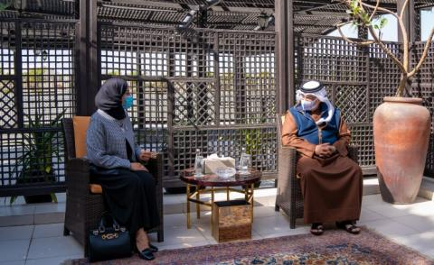His Royal Highness the Crown Prince and Prime Minister meets with the Speaker of the Council of Representatives