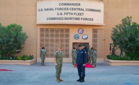 Coast Guard Commander visits Naval Support Activity