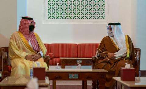 HRH the Crown Prince and Prime Minister receives the Saudi Minister of Interior