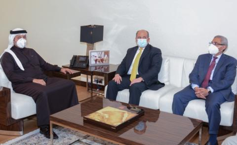 Undersecretary meets Jordanian and Egyptian ambassadors