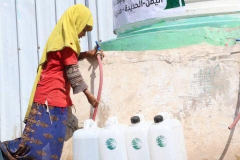 KSrelief Continues Implementing Water Supply, Environmental Sanitation Project, in Hodeida Governorate, Yemen