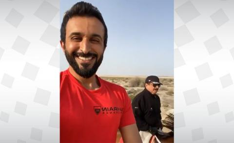 HH Shaikh Nasser posts video practising horse riding with HM the King