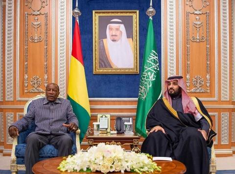 HRH Crown Prince Receives President of Guinea Conakry